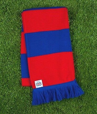 Crystal Palace Colours Retro Bar Scarf - Red & Royal