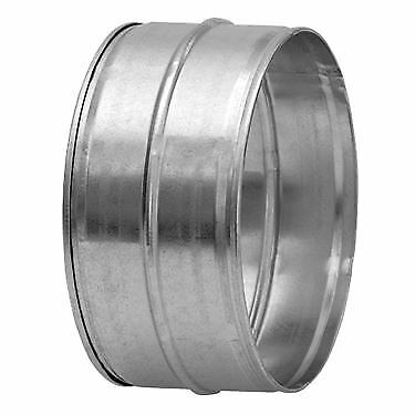 Galvanised Male-Male Metal Ducting Duct Coupling Connector - 100mm