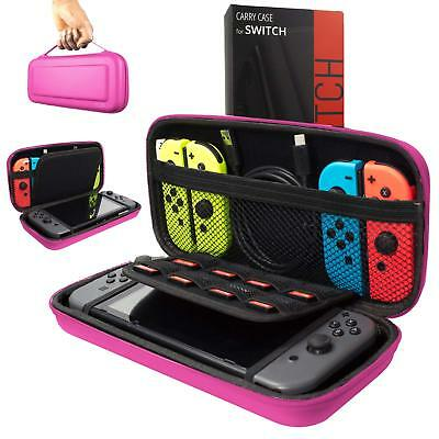 Orzly Carry Case for Nintendo Switch Protective Hard Portable Travel - Pink