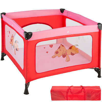 Portable Child Baby Infant Playpen Travel Cot Bed Crawl Play Area new pink