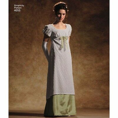 custom jane austen regency 82  colonial Empire waist dress