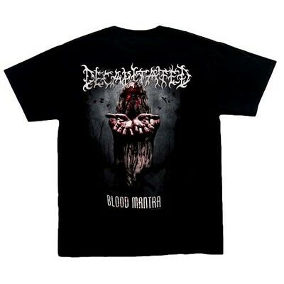Decapitated Blood Mantra t Shirt, Black,100% cotton,New. S,M, death metal