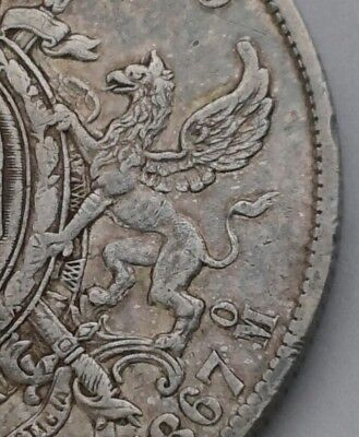 Mexico Maximilian Empire 1 Peso 1867Mo. KM#388.1. .903 Silver Crown Dollar coin.