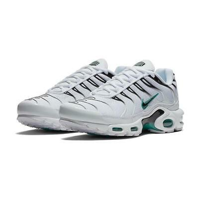 NIKE AIR MAX Plus TN Tuned 1 Homme Blanches Noires Cactus 852630 106 Sz 12 Neuf