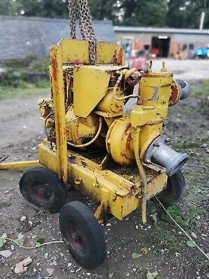 4 Inch Diesel Pump Selwood Sykes Godwin Type, electric/ hand start site trash