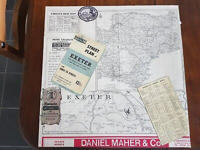 Exeter Road map history canvas - Made from 100% upcycled material - Handmade