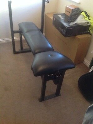Excise bench comes with leg extention and preacher curl