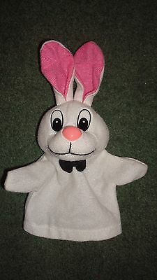 SISHUI HAPPY TOYS Co. Small white bunny hand puppet