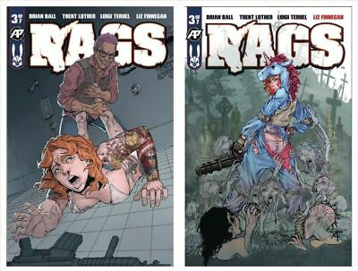Rags #3 Cover A 1st Print + Cover B Exposed Variant Antarctic Press 1/9 Sold Out