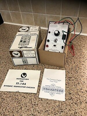 Dynamic transistor checker by Eagle products model TT 144