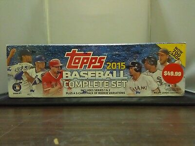 TOPPS 2015Baseball Complete Set series1&2+5card pack of rookie variations