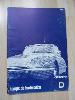 Citroen DS ID berline et break Temps De Facturation 02 / 1975