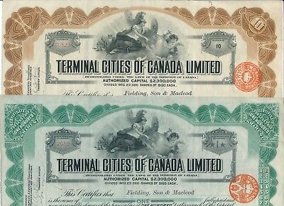 Set/Lot: 2 x Terminal Cities of Canada Limited, 1913 -RAR,Selten- siehe Bilder