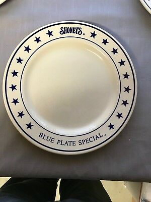 """Vintage  Shoney's 11"""" BLUE PLATE SPECIAL Plates Sterling China Wellsville"""