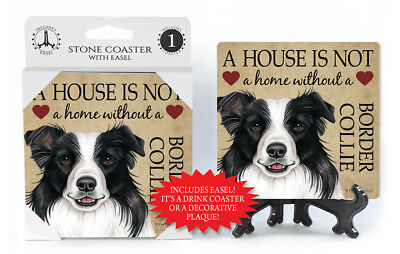 Border Collie A House Is Not A Home Dog Drink Coaster