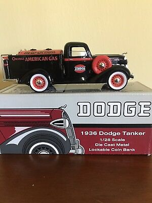 Liberty Classic 1936 Dodge Tanker Amoco 1/28 Scale Lockable Bank.