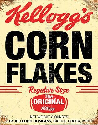 Corn Flakes VINTAGE RETRO ADVERT KITCHEN METAL TIN SIGN POSTER WALL PLAQUE