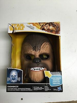 Star Wars: The Force Awakens Chewbacca Electronic Mask New Without Tags