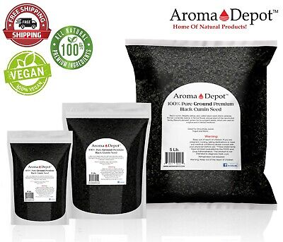 GROUND Black Seed Powder Cumin NIGELLA SATIVA Raw Organic Semilla Comino Negro