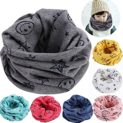Comfortable Kids Scarf Winter Soft Cotton Neck Cover Warmer Snood Scarves