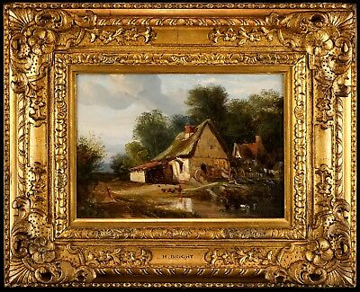 Henry Bright (1810-1873) - Cottage Landscape | Fine 19th Century Oil Painting