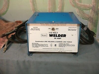 Sears 115 Volt Welder 50 Amps USED USA Fires Up