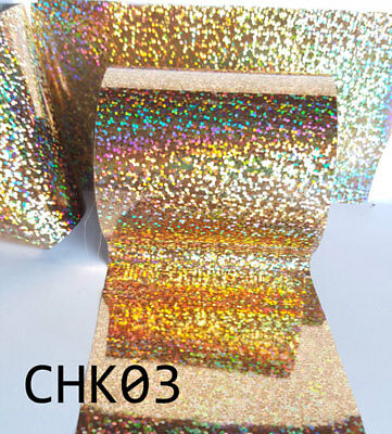 """Gold Holographic Dots Hot foil (TODO, GOPRESS, GLIMMER, GEMINI) 3"""""""