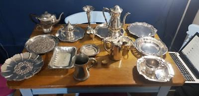 Paul's Antiques -a job lot of 22 vintage silver plated items,6 kgs in weight.