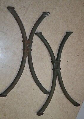Pair of Antique Cast Iron Industrial Legs / Side Supports