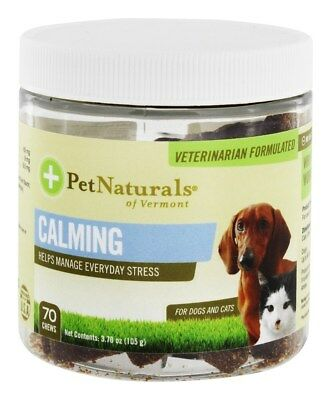 Pet Naturals of Vermont - Calming Chews For Dogs and Cats - 70 Chew(s)