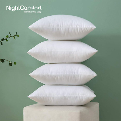 Pack of 4 Extra Deep Filled 18x18 Inches Cushion Pads Inserts Fillers Inners