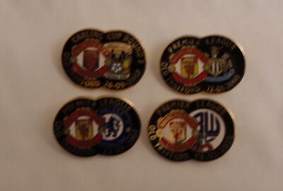 4 Manchester United Club Pin Badges