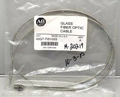 New Allen Bradley 43Gt-Tis10Ss Glass Fiber Optic Cable Ser. A