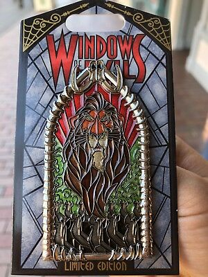 Windows Of Evil Pin Scar LE 2000 Disneyland New Release Pin