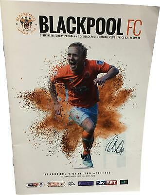 PRE-OWNED Blackpool V Charlton Athletic 13/03/2018 League One Programme DS324