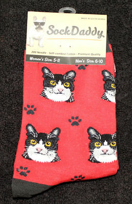 Black and White Cat Breed Lightweight Stretch Cotton Adult Socks