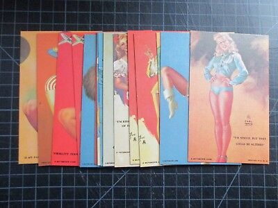 Lot Of 15 Vintage Mutoscope Cheesecake Risque Pinup Arcade Cards 1940's +Bonus