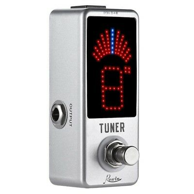 1X(Rowin High Precision Guitar Chromatic Tuner Pedal Ture Bypass G1Q8)
