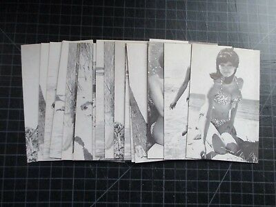 Lot Of 20 Vintage Exhibit Supply Pinup Arcade Cards 1960's Cheesecake Swimsuit