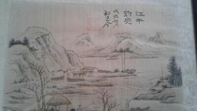 vintage Chinese painting on silk