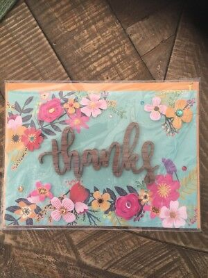 Papyrus  Thank You Card Classic Style Exquisite Craftsmanship