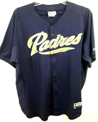 f7301cca5 San Diego Padres Authentic Majestic MLB Baseball Jersey Adult Navy Blue
