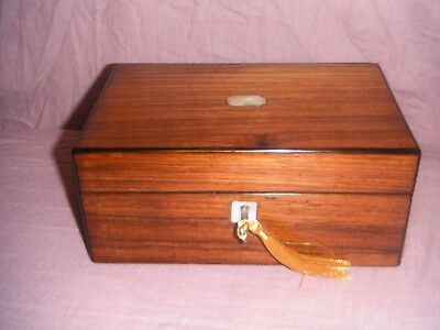 Victorian Jewellery BOX mother of pearl antique 19th century