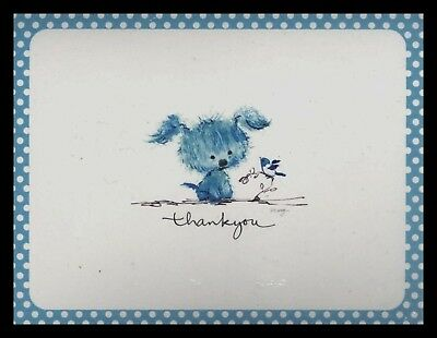 081-AUC Mary Hamilton DOG PUPPY Box Of 10 Thank You Greeting Note Cards VINTAGE