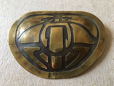 Arts & Crafts Mission Bug / Moth / Scarab Brass Pin In Style Of Carence Crafters