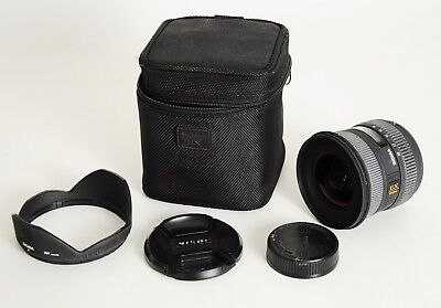 Sigma DC HSM 10-20mm f/4.0-5.6  EX Lens For Nikon -With Hood, Covers & Case-Nice