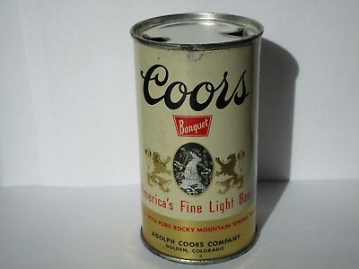 1954 One Sided Coors Flat Top Beer Can Golden Colorado