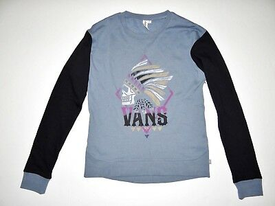 Sweat Shirt Neuf Petit Femmes Col Vans Star Laine Crossed Polaire Rond Pull zLqUpSMGV