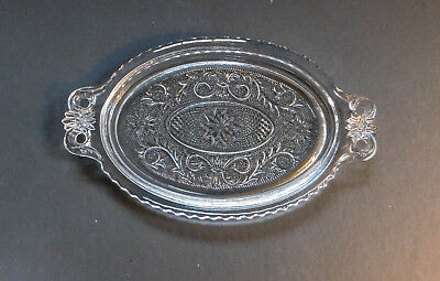 Vintage Duncan Miller Sandwich Clear Glass Relish Tray
