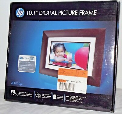 "HP 10.1"" Digital Photo Display - Espresso Brown or White Matte FREE SHIPPING NEW"